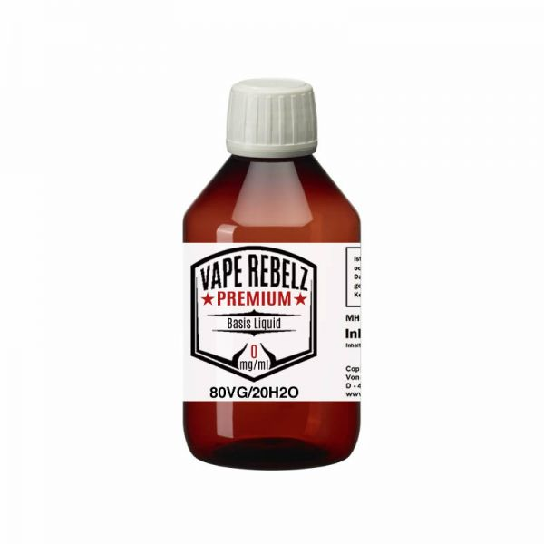 Glycerin / H2O (0:80:20) Basis Liquid by Vape Rebelz® 500ml