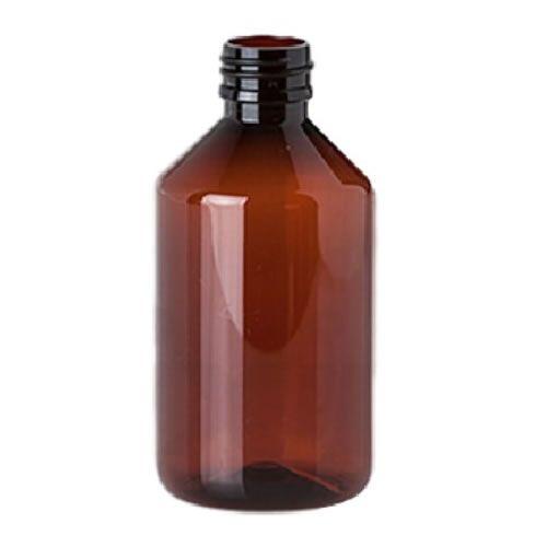 250ml PET Flasche braun inkl. Drück & Dreh Verschluss