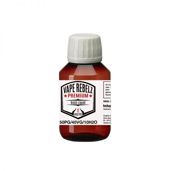 Propylenglycol / Glycerin / H2O (50:40:10) Basis Liquid by Vape Rebelz® 100ml