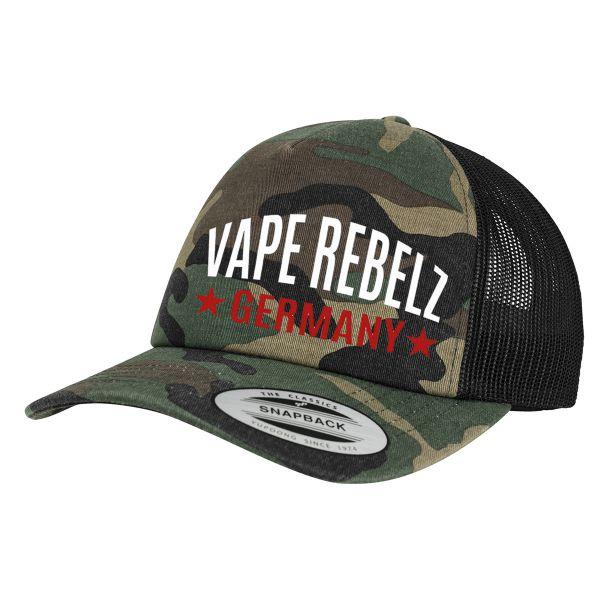 Vape Rebelz Flexfit Camo Trucker Cap [SNAPBACK]