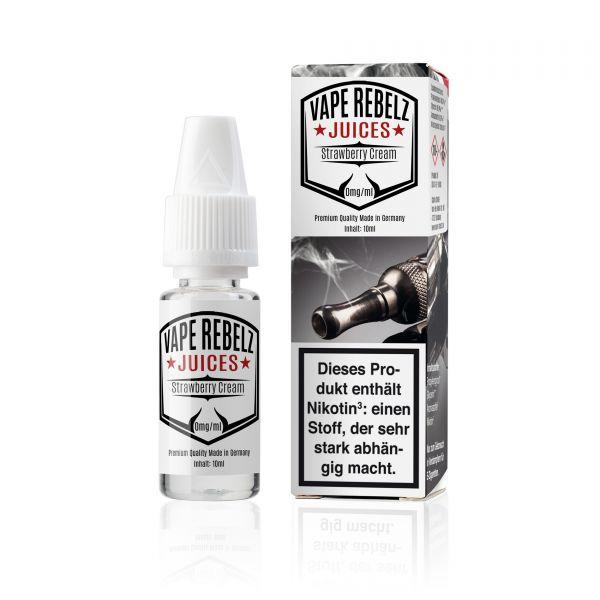 Strawberry Cream Juice | Liquid von Vape Rebelz® - 10ml