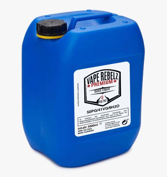 Propylenglycol / Glycerin / H2O (50:41:9) Basis Liquid by Vape Rebelz® 5000ml