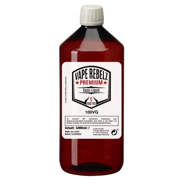 Glycerin (0:100) Basis Liquid by Vape Rebelz® 1000ml